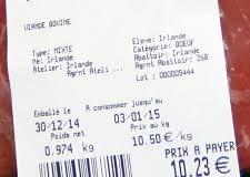 Nouvel étiquetage sur l'origine de la viande et du lait