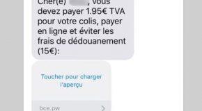 Si vous avez reçu un SMS vous demandant de payer 1,95 € de TVA pour recevoir un colis, ne répondez pas !